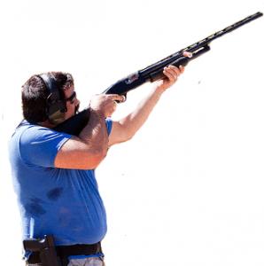 Shooting a gun